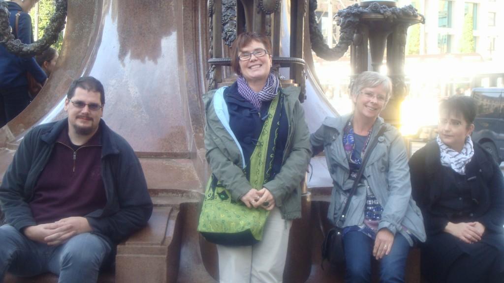 Kristof, Mia, Gaby en Henriette